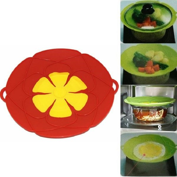 Multi-function Cooking Tools Flower Cookware Parts Silicone Boil Over Spill lid Stopper Oven Safe For Pot/Pan Cover Diameter