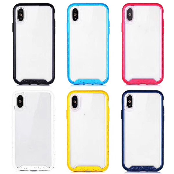 Date Pour Iphone X Xs Max Xr 6 7 8 Antichoc Tpu Cas Couverture Arrière Transparent Doux Épaissir Effacer Gel Caoutchouc Cas