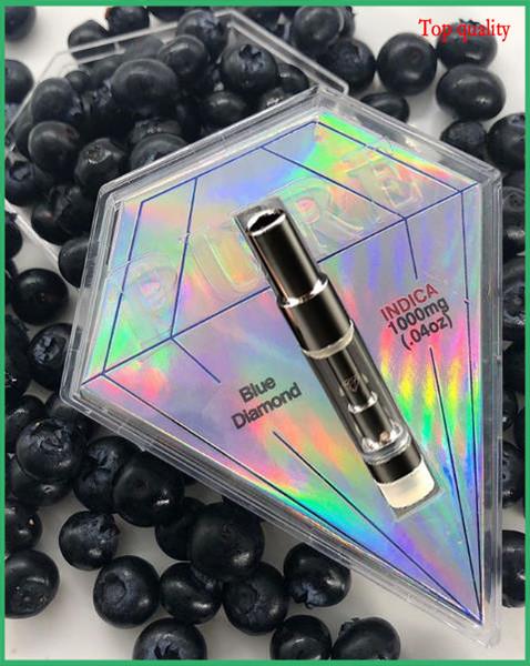 Los más nuevos cartuchos de Arrivial Pure Tank Diamond Boxes cartucho de vape vacío 0.8 ml Paquete inteligente Carrito Cerámica Bobina Sin atomizador de fugas