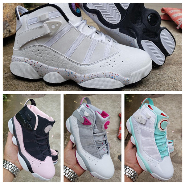 2019 Six 6 Rings Womens Basketball Shoes Designer Trainers Sneakers Fashion 6s Femme Baloncesto White Pink des Chaussures Schuhe