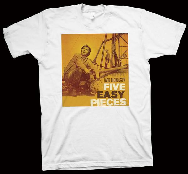 Fünf einfaches Stück-T-Shirt Bob Rafelson, Jack Nicholson, Hollywood-Cinema-Filmstolzstolz dunkle T-Stücke kundenspezifisches Jersey
