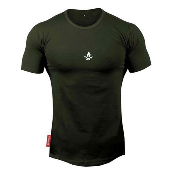 gym Courir en plein air pour homme Manches courtes avec col rond T-shirt Pure Simple perméable à l'air Impression de personnalité