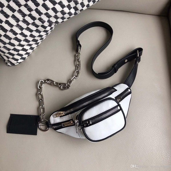 Di alta qualità Classico bianco famoso marchio Bumbag Cross Body Shoulder Bag Vita Borse Diamond pacchetto di alta qualità Marsupio in vera pelle