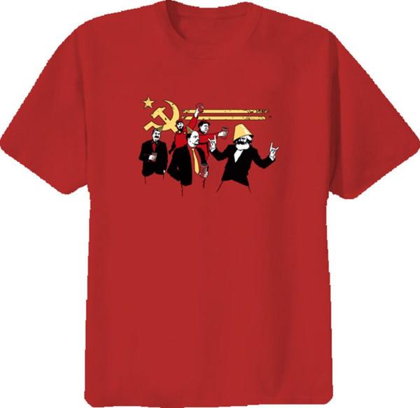 Partido comunista Fidel Castro União Soviética Camiseta de algodão Homens T-Shirts Clássico 2019 O Pescoço Streetwear Hip Hop Tops Filme Tee