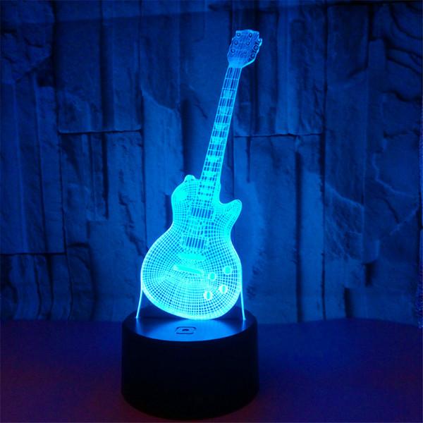 Luzes RGB econômicas LEVOU Base da Lâmpada IR Remoto 5ª Bateria Bin 3D Lâmpadas Ópticas Interruptor de Toque Novidade Iluminação candeeiros de mesa Atacado