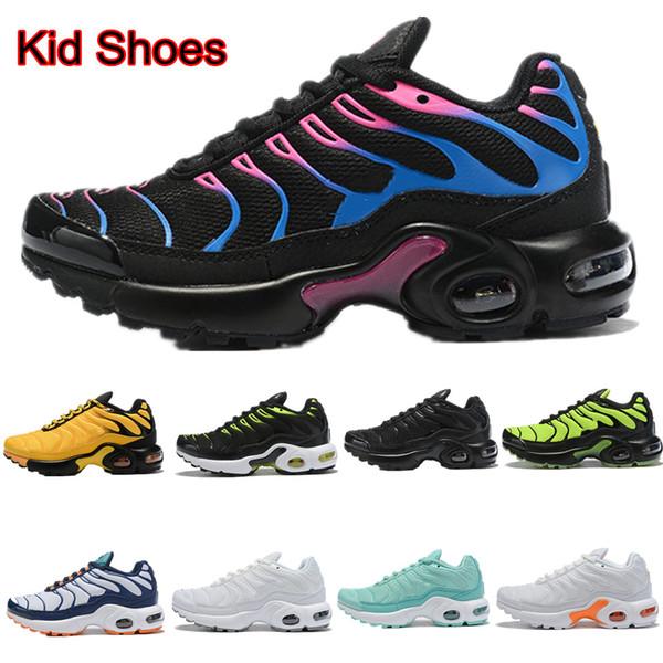 2019 Crianças Designer Plus Tns Greedy SE OG Juventude Running Shoes Meninos Formadores Chaussures Ultra Respirável Crianças Esportes Tênis Tamanho 28-35