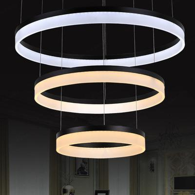 NEW Modern LED Chandelier Acrylic Round LED Light Fixture DIY Style Wire Adjustable LED Lamp for Hotel,Living Dining room