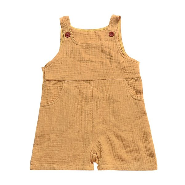Pocket Button Baby Girls Overalls Pants Kids Girls Rompers Pant Plain Solid Toddler Outfits Sleeveless Belt Baby Girls Boys Bib Pants