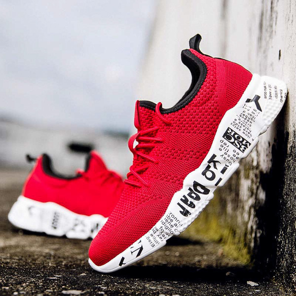 2019 Summer Men Running Shoes Lightweight Classic Lace Up Low-Cut Men Comfortable Sport Shoes High Quality Jogging Gym Sneakes