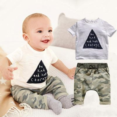 Babys Set 2019 New Summer Letter Baby Boy Suit Set 2Pieces Hat T-Shirt Pants Summer Outfit For Toddler VestidosBaby Clothing Sets 2019 Summe