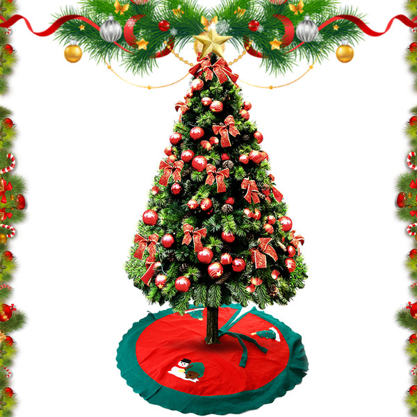 Christmas tree ornaments Christmas tree skirt apron carpet 100CM #30