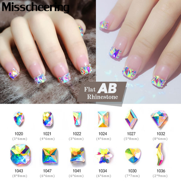 top popular Shiny Crystal Rhinestones For Nails AB Colorful 3D Flatback Glass Gems Jewelry Glitter DIY Nail Art Decorations 30 Designs 2021