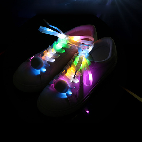 1 Paar LED-Blitz Luminous Nylon Schnürsenkel-Party Skating Rennen Disco Schnürsenkel