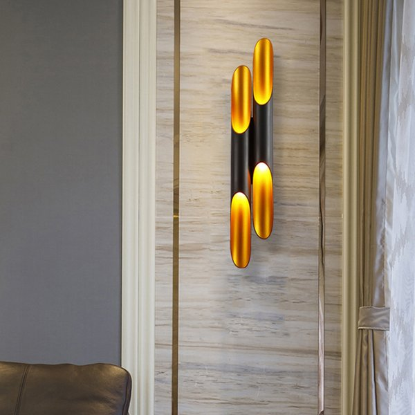2019 Contemporary Luxury Wall Lamp Black Wall Lighting Fixtures Gold Wall  Mount Lamps Led Sconce Lights For Bedroom Bedside Hallway From Lamlux, ...