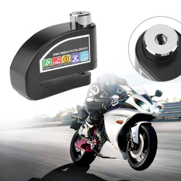 En alliage d'aluminium Protection contre le vol étanche anti-vol de roue de frein à disque de verrouillage avec alarme de sécurité pour moto de sécurité vélo