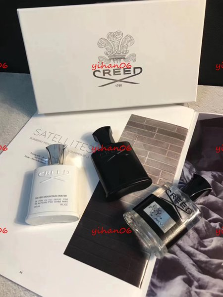 Halloween hot sale Top Quality 30ml*3 Creed Cologne Perfume for Men With Long Lasting High Fragrance High Quality Set Box Gif free shopping