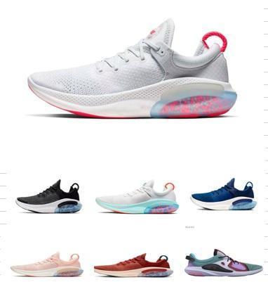 2019 Joyride Run FK örme Erkek Koşu Ayakkabı Beyaz Yelken Üniversitesi Kırmızı Üçlü Siyah ağartılmış mercan Joyride Ayakkabı Erkek Eğitmenler Sneakers NIK