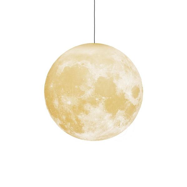 Modern 3d Print Moon Pendant Lights LED Pendant Lamp for Living Room Boy Child Girl Bedroom Bedside Art Home Lighting No116