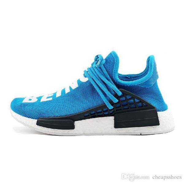 NMD 2019 Human Race Running Shoes for mans Pharrell Williams Sample Yellow Core Black Sport Designer Shoes Men Women Sneakers 36-45