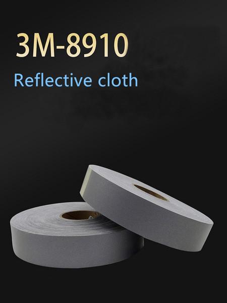5cm * 1M 3M reflectante de tela retardante de llama paño de servicio de la ropa de trabajo de material contra incendios banda reflectante 8910 gris plata