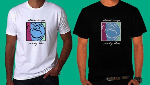 ¡NUEVO! ALTER IMAGE PINKY BLUE camiseta en blanco y negro TEE