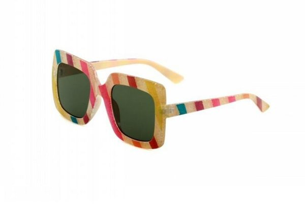 Brand women New Square sunglasses 0328 catwalk multicolor glasses network explosion models sunglasses