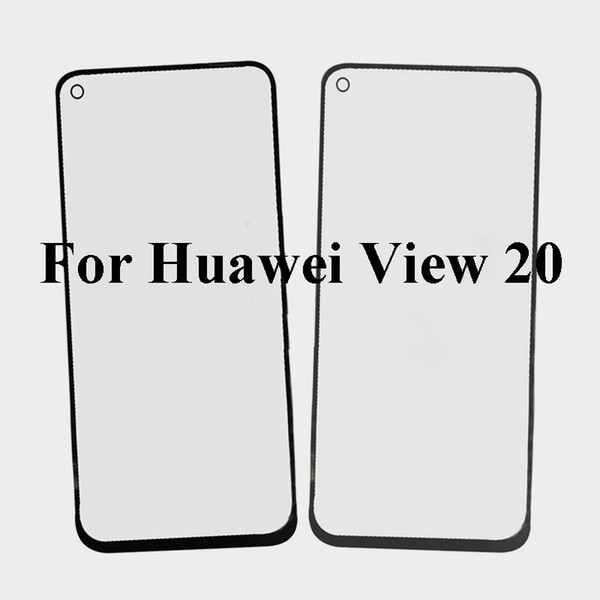 2PCS For Huawei View 20 Front Outer Glass Lens Repair Touch Screen Outer Glass without Flex cable Replacement For Huawei View20