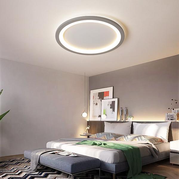 New Gray/White Minimalist Modern led Ceiling Light For living room lights Bedroom ledlamp room light Ceiling Lamp light fixtures