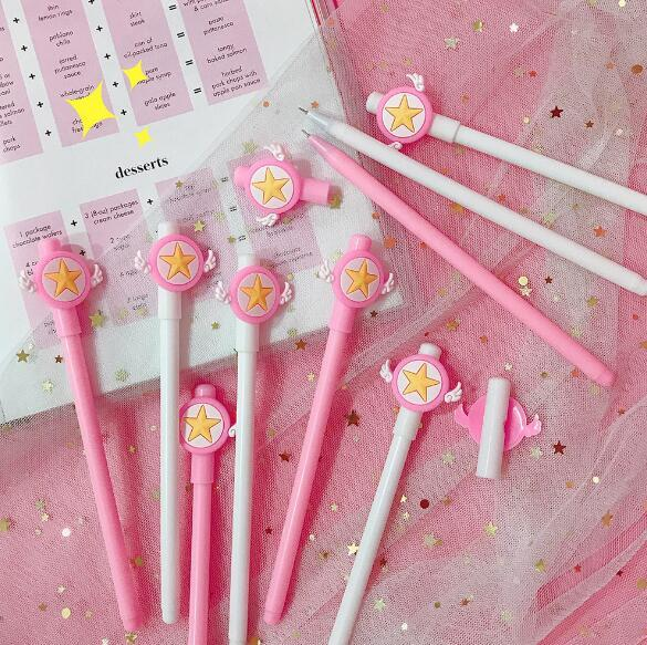 Cute cartoon Japanese small fresh black pen gel student office stationery signature pen exam pen stationery