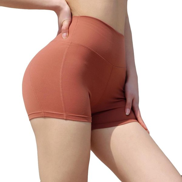 Señoras de costura transpirable delgado hip-apretado gimnasio correr yoga pantalones cortos casuales de cintura alta bicicletas entrenamiento leggings para el verano