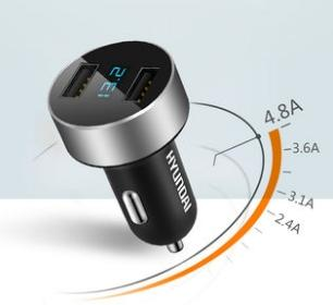best selling Hyundai car charger car charge a tow two cigarette holder plug USB car multifunctional mobile phone charge