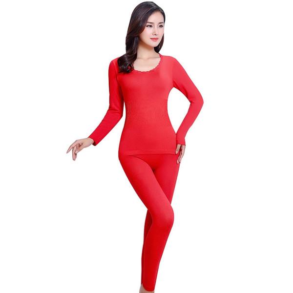 2018 Yeni Bayanlar Sıcak Paçalı Don Kadınlar Kış Sıcak Termal Iç Çamaşırı Takım Kadınlar Termal Iç Çamaşırı Setleri kadın Intimates