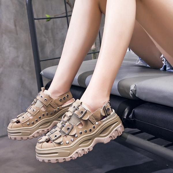 2019 Designer Luxury Women Plate Forme Platform Zapatos de aumento de altura para Cool Fresh Girls Super Fashion Young Ladies Top Vogue Shoes