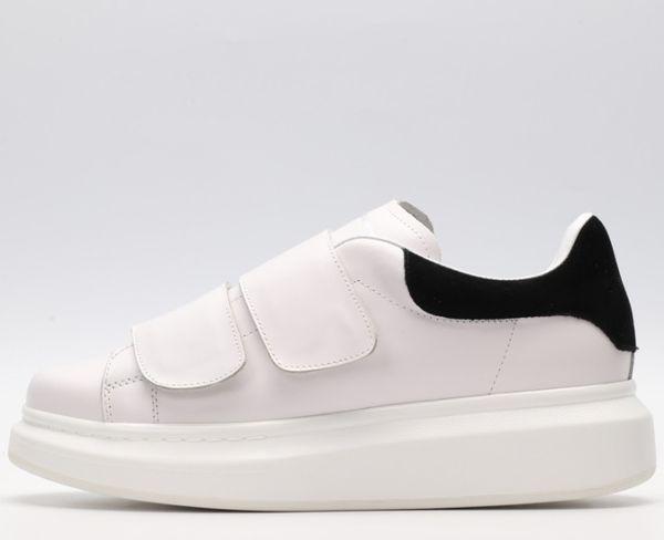 Nouveau designer mode baskets femmes hommes designer velcro chaussures de sol épais chaussures décontractées sauvages blanc