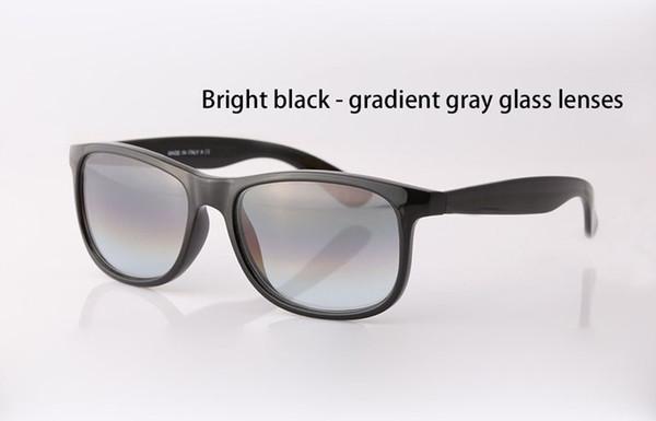 Brillante negro gradiente gris