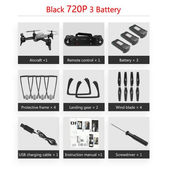720P Black *3 Baterry