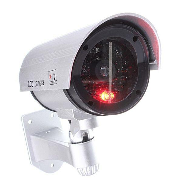 Autoadesivo d'avvertimento della videocamera di sicurezza fittizia falsa del CCTV di sorveglianza all'aperto del LED