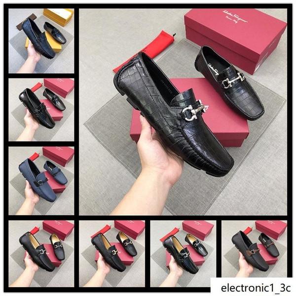 18ss YENİ Erkekler Ayakkabı Siyah Sivri burun Gerçek Deri Gelinlik Ayakkabı Yumuşak Deri Erkek Ayakkabı Dantel-up Boyutu 38-45