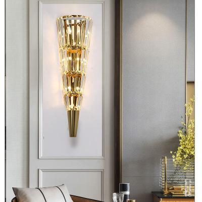 Applique murale de luxe en cristal doré pour salon appliques murales intérieures pour lampe de chevet applique murale luminaire wandlamp
