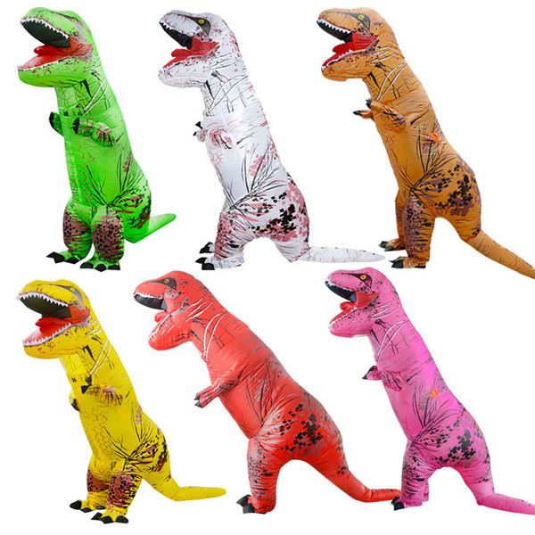 Compre Halloween Traje Tiranossauro Dinossauro Terno Inflavel