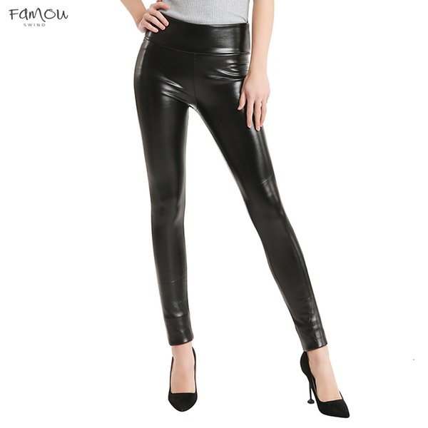 Winter Thickening Leggings Hot Black Leather Leggings Skinny Pants Pants Womens Trousers Boots Warm For Women High Quality