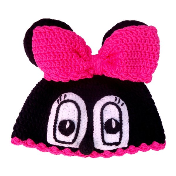 2019 Adorable Crochet Baby Mouse Hat,Handmade Knit Baby Girl Animal Hat  With Bow,Infant Funny Beanie Cap,Newborn Photo Prop From Awesome_shop,  $8 88 |