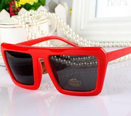 2018 gafas de sol cuadradas mujeres gafas de sol cuadradas grandes hombres marco negro vintage retro gafas de sol mujer hombre uv400