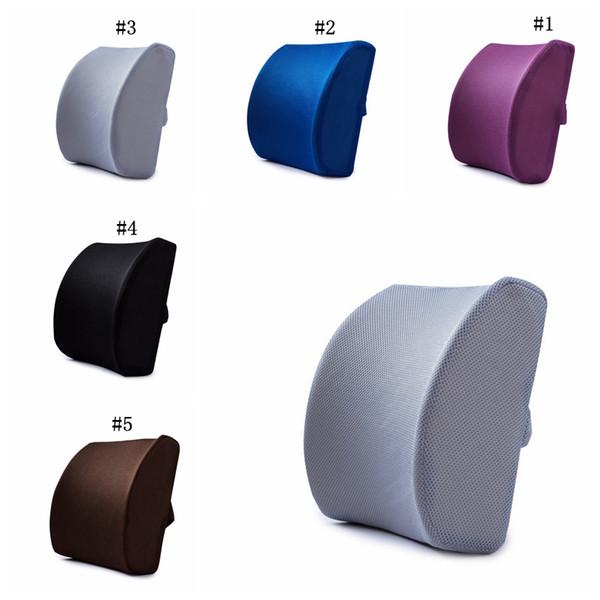 New Memory Foam Lumbar Cushion Travel Pillow Car Chair Back Support Travel Pillow office Lumbar Cushion MMA2004