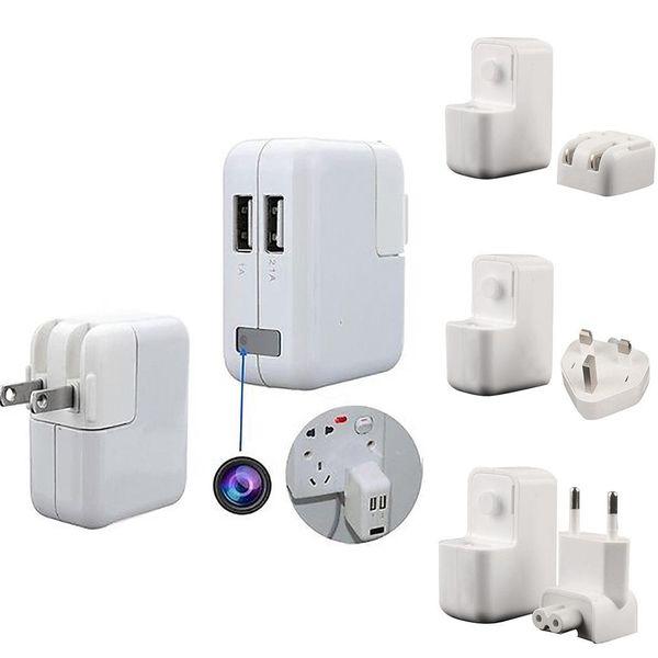 New Fashion Portable 1080P HD Mini USB Wall Charger Hidden Spy Camera Plug Fashion Digital Video Recorders, Cards
