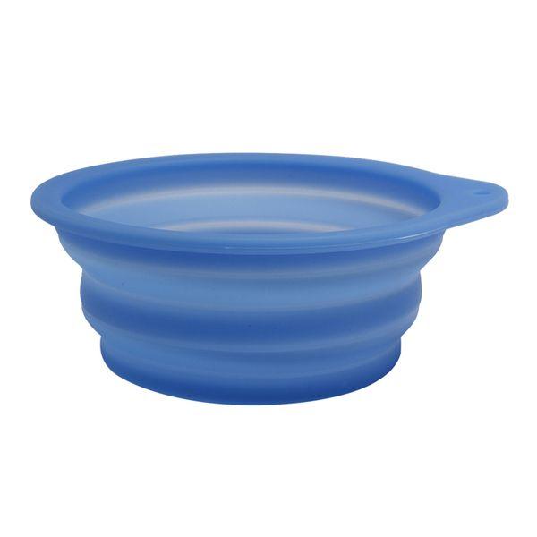 1 PZ Silicone Orecchio Singolo Ciotola Pieghevole Ciotola Espandibile Piatto Tazza per Pet Dog Cat Food Travel Bowl