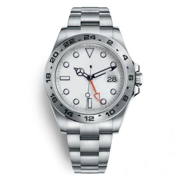 Lujo Bisel giratorio para hombre Reloj de pulsera Explorer II Mecánico Automático 42 MM Diámetro Hombres Reloj de pulsera Extremo Set Fecha Compañero Reloj masculino1