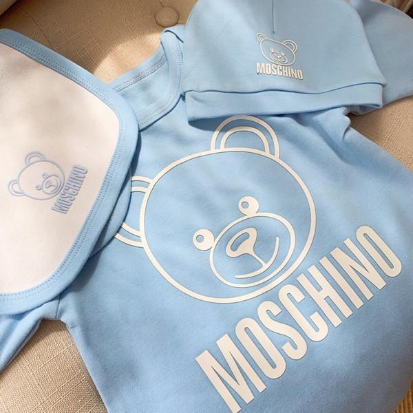 V Newborn Tute Neonate Vestiti Cappellino Pagliaccetto Salopette Risvolto Acqua Bambino Vestiti di cotone Set di lenzuola New 0714