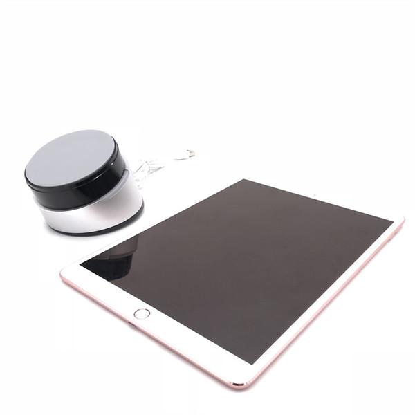 (6 set/lot)Tablet security display holder for ipad burglar alarm anti theft aluminum alloy black color base pedestal stand