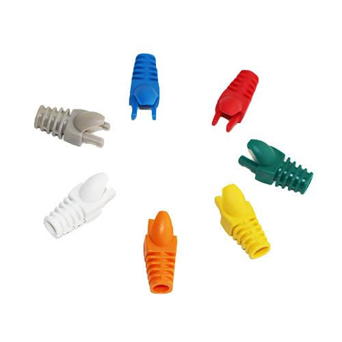 100 Pieces White/Red/Blue/Green/Yellow Color Boots for Cat 5e Cat 6 Network Cable RJ 45 Plug Boot Finger Type